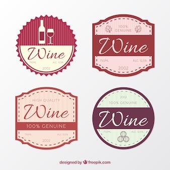 Kilka dekoracyjnych naklejek z winem