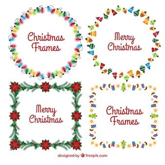 Kilka dekoracyjnych świątecznych ramek