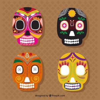Kilka kolorowe meksykańskie czaszki