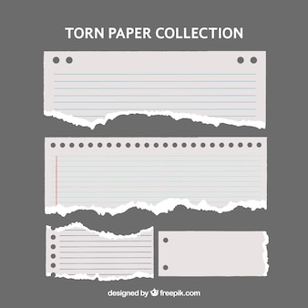 Kilka podarte papiery o różnych formach