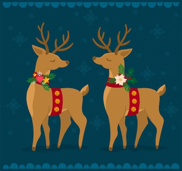Kilka świątecznych reniferów