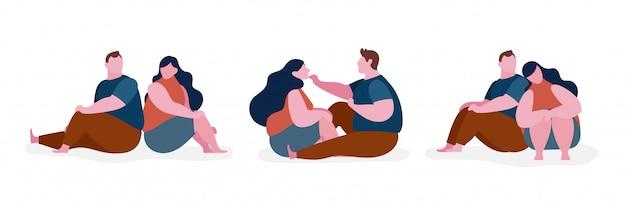Kilka tłuszczu charakter ilustracja