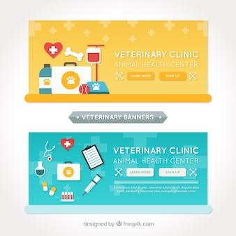 Kilka transparenty z płaskich elementów do pielęgnacji zwierząt
