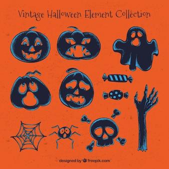 Kilka zabytkowych elementów halloween