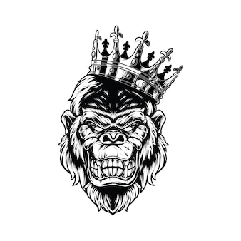 King kong na białym tle