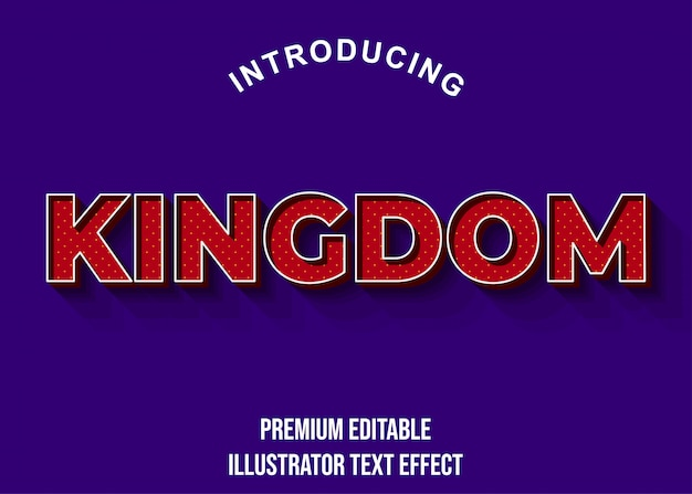 Kingdom - 3d dark red text effect styl czcionki