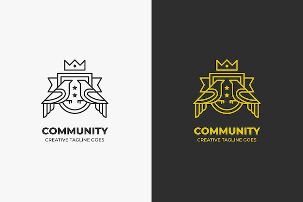 Kingdom palace vintage luxury logo