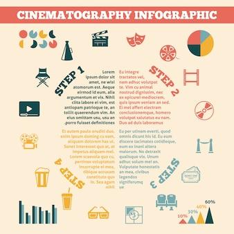 Kino infografiki wydrukować plakat