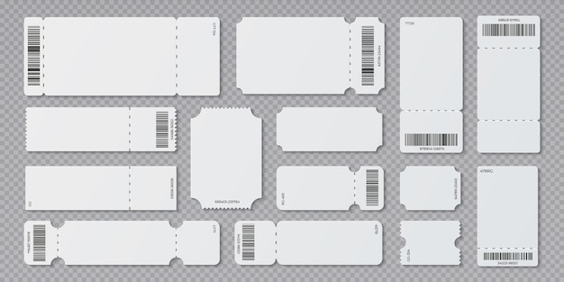 Kino koncertowe i puste białe bilety na pokład