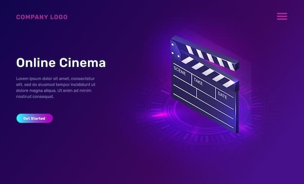 Kino lub film online, koncepcja izometryczna