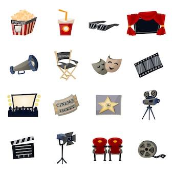 Kino płaskie ikony