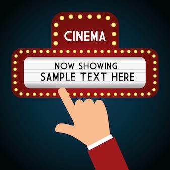 Kino z ekranem dotykowym jasna deska teather
