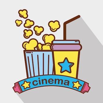 Kino z napojem gazowanym popcornem
