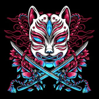 Kitsune japonia i miecze