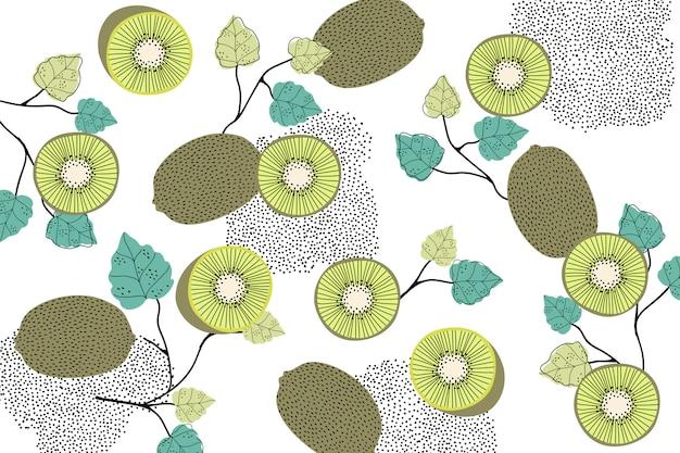 Kiwi wzorzyste tło