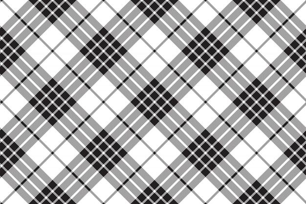 Klan cameron kratę czarny biały wzór