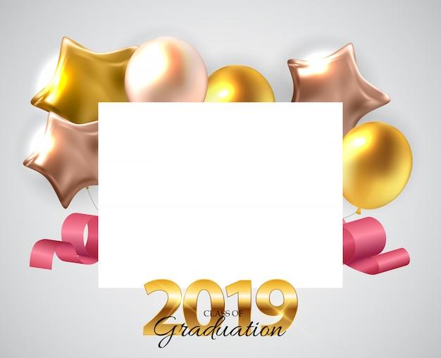 Klasa 2019 graduarion edukacja tło.
