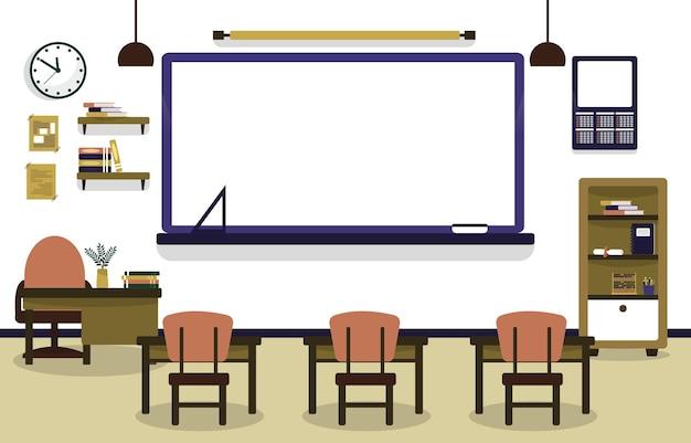 Klasa szkoła nikt klasie lekcja stół krzesło edukacja ilustracja