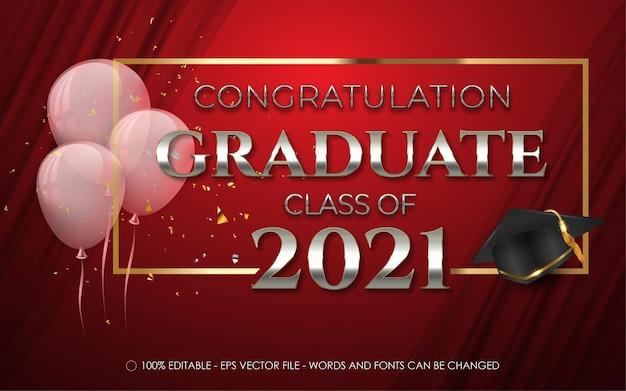 Klasa tekstu ukończenia szkoły 2021 dla banera