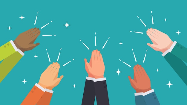 Klaskać ręki od grupy etnicznej ludzie biznesu wektorowi
