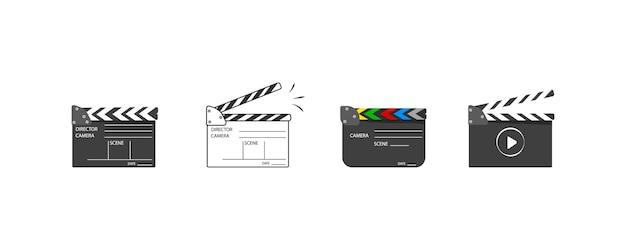 Klaskanie tablicy na początek sceny klipu wideo.