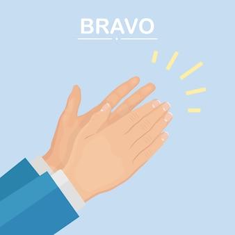 Klaskanie w dłonie jako koncepcja pozytywnej opinii