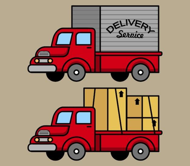 Klasyczna ciężarówka kurierska