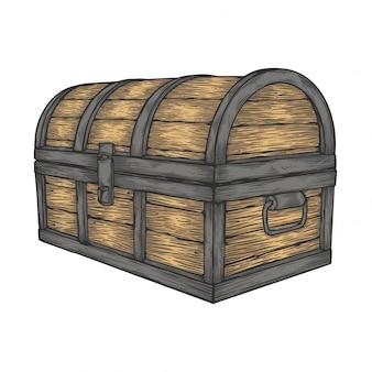 Klasyczna drewniana skrzynia