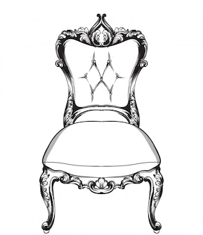 Klasyczna grafika liniowa fotela
