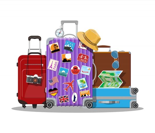 Klasyczna i nowoczesna torba podróżna.