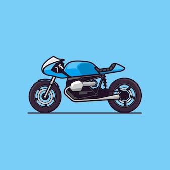 Klasyczna ilustracja koncepcji motocykla