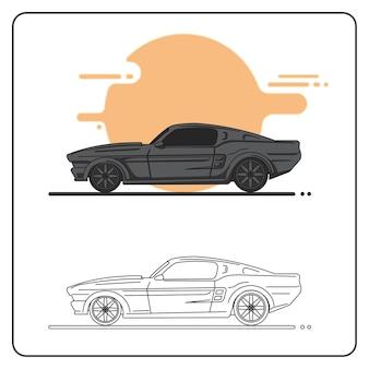 Klasyczna ilustracja samochodu