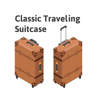 Klasyczna izometryczna walizka podróżna