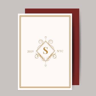 Klasyczna karta zaproszenie na ślub