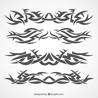 Klasyczna kolekcja tatuaż plemiennych