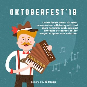 Klasyczna kompozycja oktoberfestu z płaskim wzorem