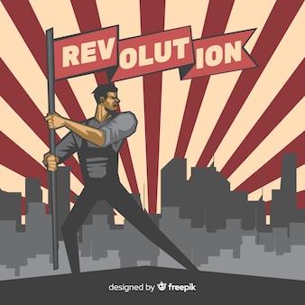 Klasyczna kompozycja rewolucyjna w stylu vintage