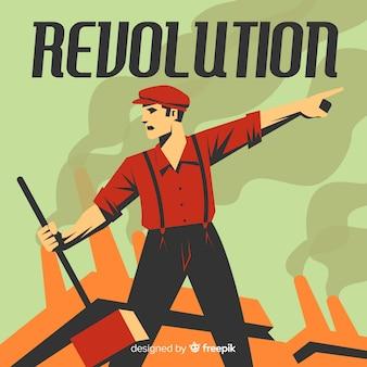 Klasyczna koncepcja rewolucji w stylu vintage