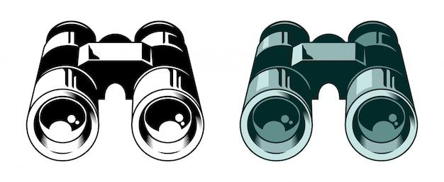 Klasyczna metalowa lornetka do obserwowania ptaków, ptaków i przyrody.