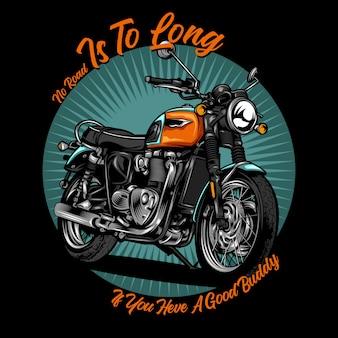 Klasyczna motocykl ilustracja