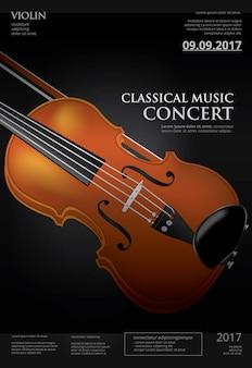 Klasyczna muzyka koncepcja skrzypce ilustracji wektorowych