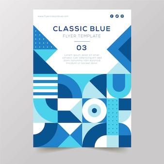 Klasyczna niebieska prezentacja plakatu dla firm