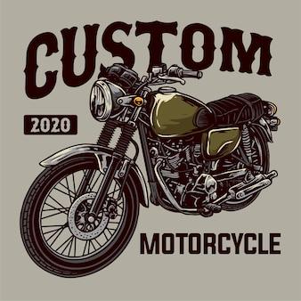 Klasyczna niestandardowa odznaka motocyklowa