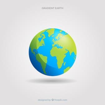 Klasyczna planeta ziemia w stylu gradientu