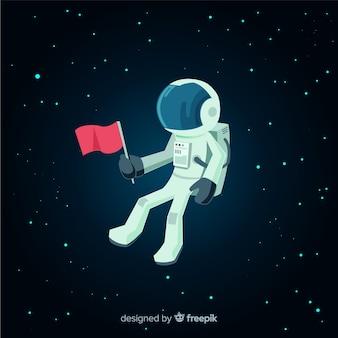 Klasyczna postać astronauty o płaskiej konstrukcji