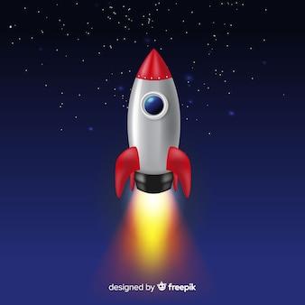 Klasyczna rakieta kosmiczna o realistycznym designie