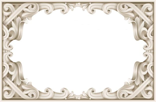 Klasyczna rama w stylu rokoko baroku