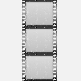 Klasyczna taśma filmowa na białym tle