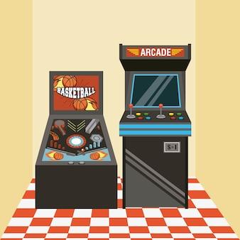 Klasyczna zręcznościowa maszyna do gier wideo