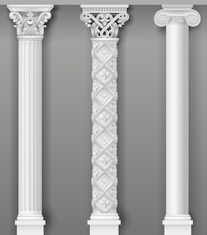 Klasyczne antyczne białe kolumny